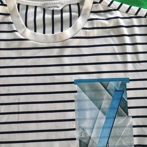 Mind Bridge Striped all over shirt with a graphic